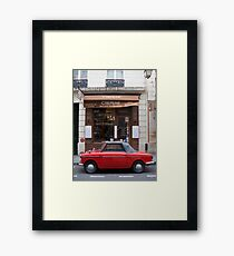 Autobianchi in Paris Framed Print
