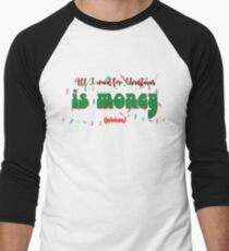 Camiseta ¾ bicolor para hombre All i want for christmas