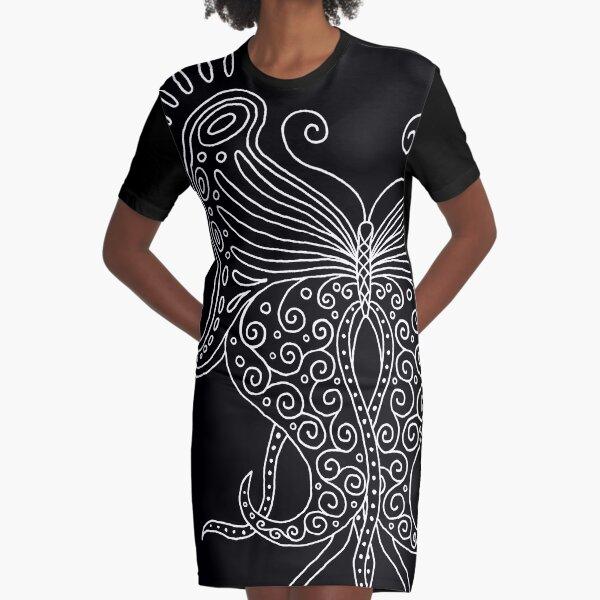 58 Butterfly - black Graphic T-Shirt Dress