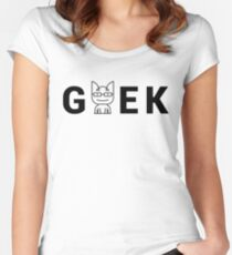 Cat Geek Mode Women's Fitted Scoop T-Shirt