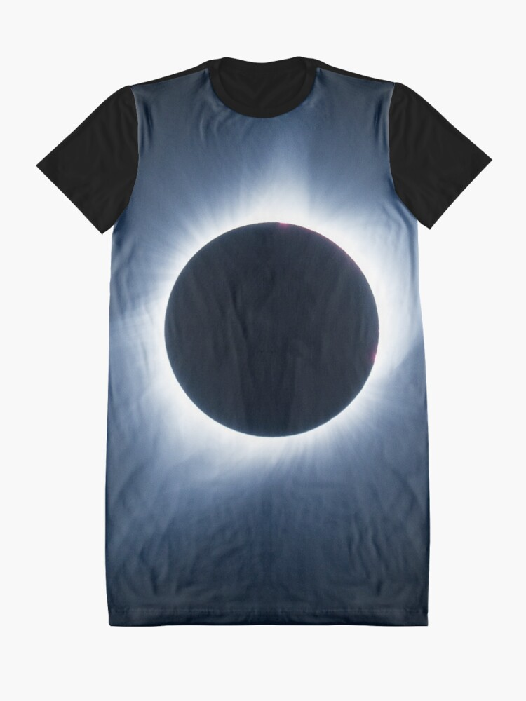 Alternate view of 2017 Solar Eclipse - Totality Corona III Graphic T-Shirt Dress