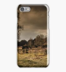 Storm clouds and heathlands iPhone Case/Skin