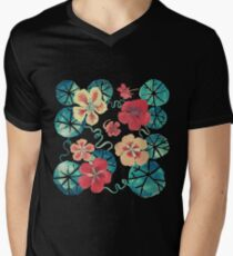 Watercolor Nasturtiums: In the Still of the Night Men's V-Neck T-Shirt