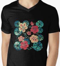 Watercolor Nasturtiums: In the Still of the Night Men's V-Neck T-Shirt