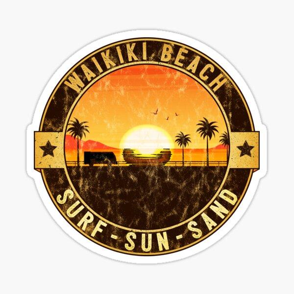 SURFING WAIKIKI BEACH HAWAII SURF SURFER  Sticker