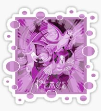 Dove With Celtic Peace Text In Pink Purple Tones Sticker