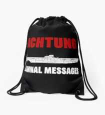 Achtung - SUB liminal Messages - U-Boat Drawstring Bag