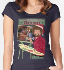 Bob Ross Christmas Women's Fitted Scoop T-Shirt