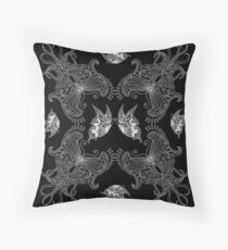 Butterfly set - black Throw Pillow
