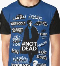 Camiseta gráfica Citas de Sherlock
