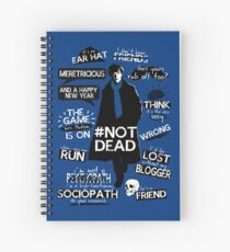 Sherlock quotes Spiral Notebook