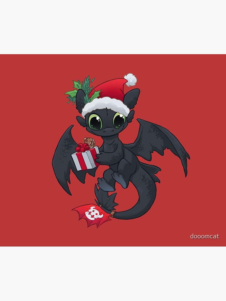 Christmas Dragon by dooomcat