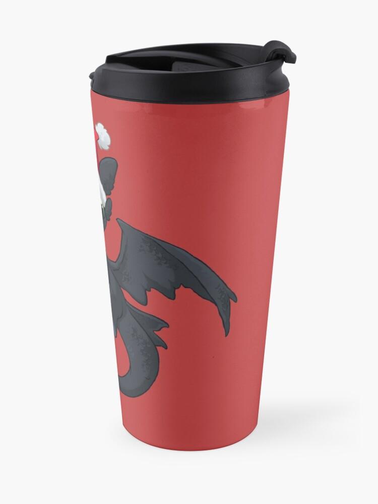 Alternate view of Christmas Dragon Travel Mug