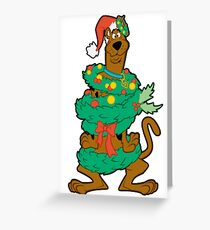 scooby doo christmas Greeting Card