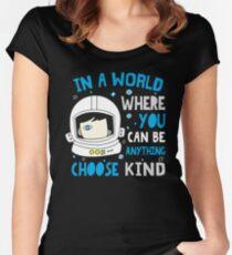 Trending Choose Kind Anti Bullying Helmet T-Shirt Women's Fitted Scoop T-Shirt
