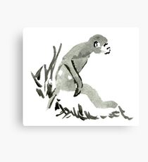 Sumi-e Monkey Large Print Canvas Print