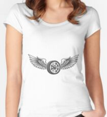 Winged Wheels emblem Women's Fitted Scoop T-Shirt