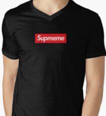 Supreme Box Logo - Supmeme Men's V-Neck T-Shirt