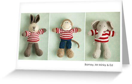 stripey boys by bunnyknitter