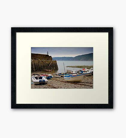 Clovelly Harbour Framed Print