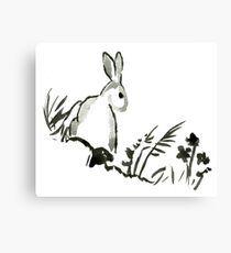 Sumi-e Rabbit Large Print Canvas Print