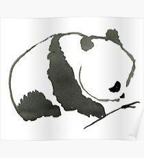 Sumi-e Panda Large Print Poster