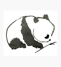 Sumi-e Panda Large Print Photographic Print