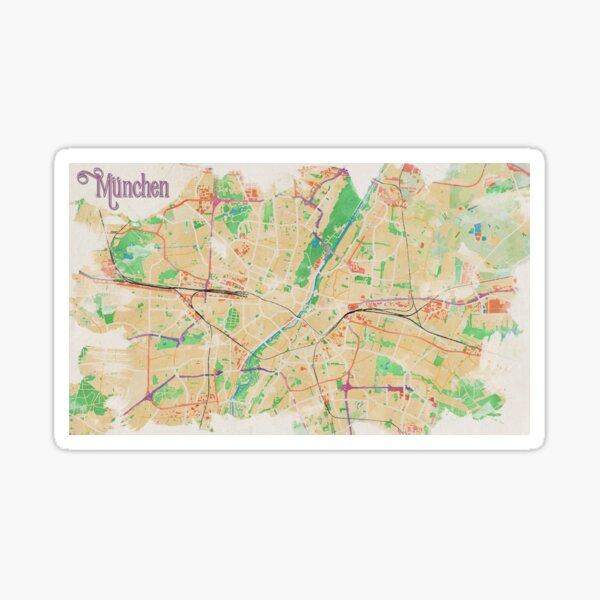 Munich in Watercolor Sticker