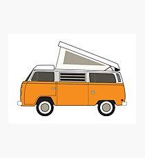 retro camper bus Photographic Print