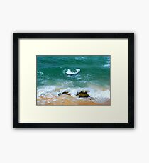 Surf Swirl - Bar Beach NSW Framed Print