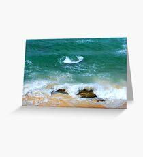 Surf Swirl - Bar Beach NSW Greeting Card