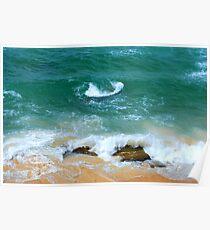 Surf Swirl - Bar Beach NSW Poster