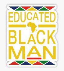 Educated Black Man Sticker