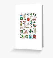 snoopy christmas set Greeting Card