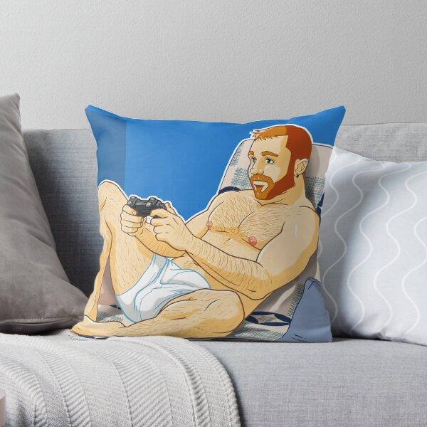 TOTO LIKES VIDEOGAMES Throw Pillow