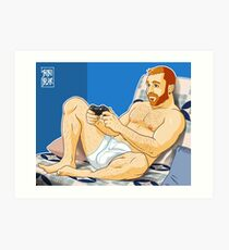 TOTO LIKES VIDEOGAMES Art Print