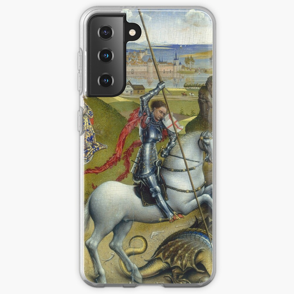 Saint George and the Dragon Oil Painting by Rogier van der Weyden Case & Skin for Samsung Galaxy