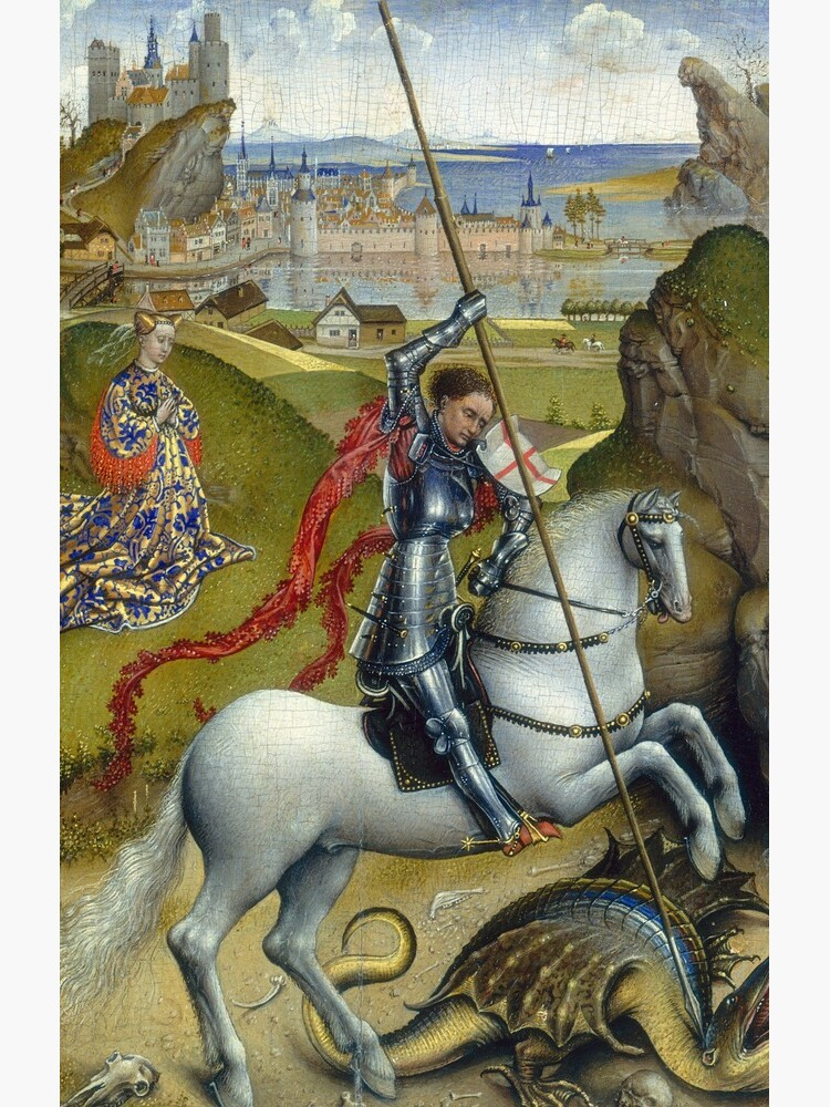 Saint George and the Dragon Oil Painting by Rogier van der Weyden by podartist