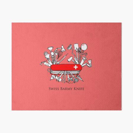 Swiss Barmy Knife Art Board Print