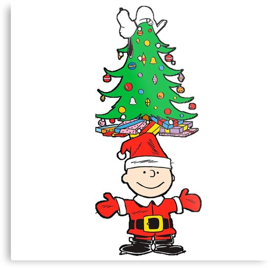 Charlie Brown Christmas Tree Metal Prints By Gsunrise Redbubble