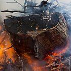 Burning ship 3 by Zvonko Jerkovic