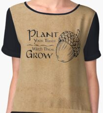 Plant Your Trees ~ Watch Them Grow Chiffon Top