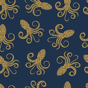 Golden Octopus Typography by SpiceTree