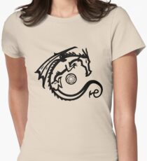 Dragon and Stone (for light t-shirts) Women's Fitted T-Shirt