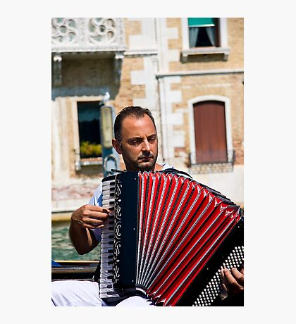 Gondolier Musician Photographic Print