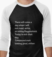 Read, Write, or Reblog Bagginshield Men's Baseball ¾ T-Shirt