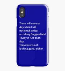 Read, Write, or Reblog Bagginshield iPhone Case