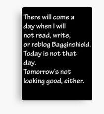 Read, Write, or Reblog Bagginshield Canvas Print