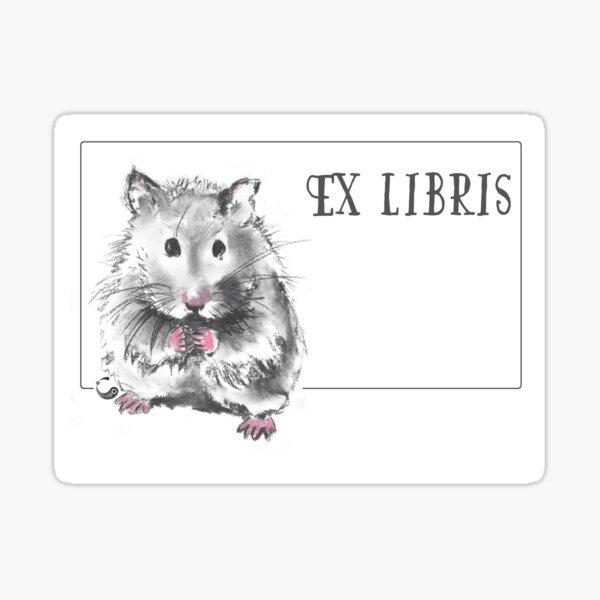Hamster (ExLibris) - Charcoal Animals Sticker