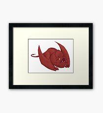 Little Smaug - Pixel Dragon Framed Print
